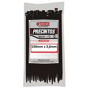 Precintos Plásticos Tacsa 100 Unidades 150mm X 3,6mm (15cm)