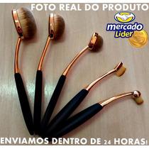 Pincel Escova Oval Kit C/ 5 Dourado Fotos Reais Frete Grátis