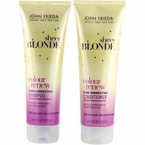 Kit John Frieda Shampoo Sheer Blonde Col.renew Tone-correcti