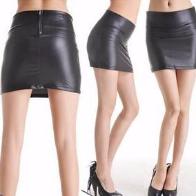 Minifalda De Cuero De Imitación(por Encargue)