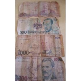 Dinheiro Cedulas Notas Antigas Reliquias Cruzeiros,cruzados