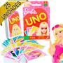 25 Jogos De Carta Uno Barbie Mattel Lembrancinha Aniversário