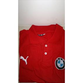Camisa Playera Tipo Polo, Color Rojo-negro Marca Puma Bmw