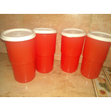 Vasos Apilables Con Tapa Tupperware