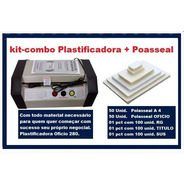 Kit Plastificadora Laminadora Prof. P280 + Polaseal