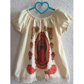 Vestidito Niña Con Imagen Virgen Guadalupe