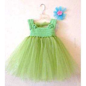 Vestido Crochet Con Tul Niña Talla 24 Meses 2 Años Tutu