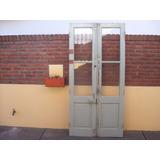 Antigua Puerta Cancel De Cedro Dos Hojas Herrajes Completos