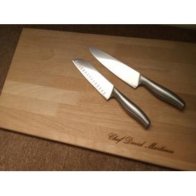 Tabla Para Picar, Cocina 35x60cm Con Grabado