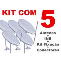 Kit 5 Antenas Ku 60 Cm Completas + Frete Gratis
