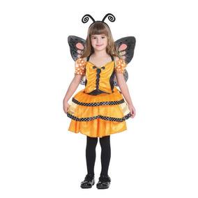 Disfraz Mariposa Para Niña, Importado