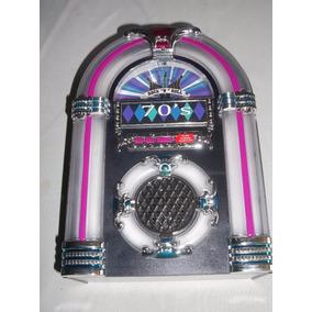Mini Rockola Nostalgia Decorativa Con Luz