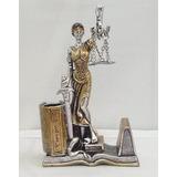 Estátua Deusa Dama Da Justiça Têmis 20cm Símbolo Do Direito