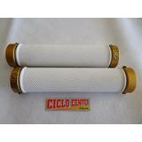Manopla Pro Shimano Frs 145mm Dh Fr Branca C/ Trava Dourada