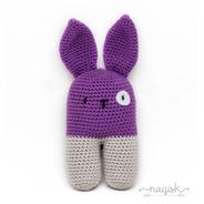 Amigurumi Sonaja Crochet Ganchillo Conejo Bipedo Morado