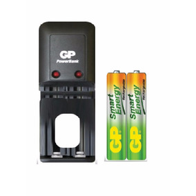 Cargador Gp Para Pilas Aa/aaa + 2 Baterias Aa 1000 Mah