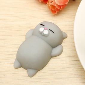 10 Gato Preguica Mochi Squishy 3d Anti Stress Pronta Entrega