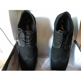 Zapatos Hummer De Gamuza Negra Lisa