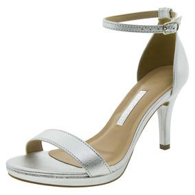 862451140 Tamanco Salto Alto Prata Brilhoso Mulher Sapatos - Sapatos para ...