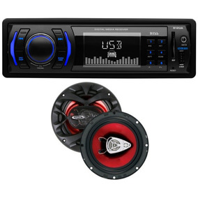 Combo Oferta Stereo Boss 612ua + 2 Parlantes Boss 6.5 300w *