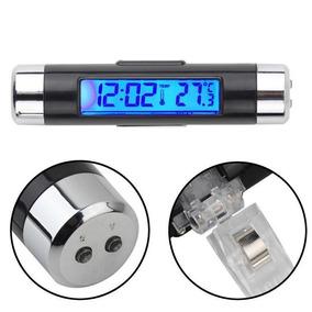 Relógio Termômetro Digital E Hora Carro Casa Lcd Interno