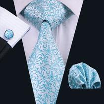 Gravata Azul Clara Noivo Designer Italiano Com Seda