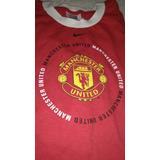 Remera Manchester United Negra L/ Roja Talle Xl