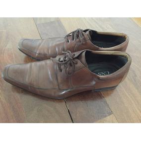 Sapato Social Cns - Marron - Sola De Couro