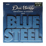 Encordoamento Guitarra Dean Markley 2550 Blue Steel 08-38