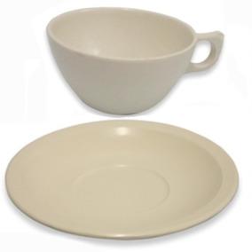 12 Platos Para Taza Y 12 Tazas Para Cafe (total 24 Piezas)