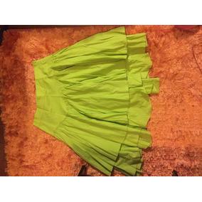 Pollera Verde Manzana Zara Talle M