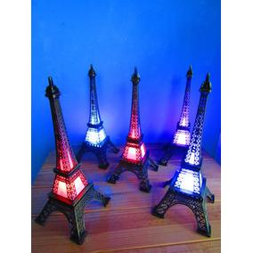 5 Torres Eiffel 32 Cm Con Luz Led Multicolor O Cálida