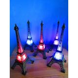 5 Torres Eiffel 18 Cm Con Luz Led Color Envíos