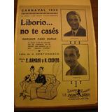 Partitura Liborio No Te Casés Armani Cospito Armani 1930