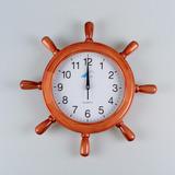 Reloj De Madera Forma De Timon