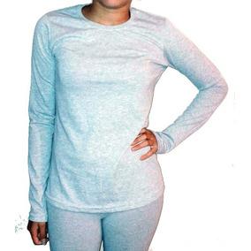 Remera Camiseta Mujer 100% Cotton Smooth Manga Larga