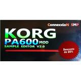 Atualização Korg Pa600 V2.0/sampler Editor+45 Samples Em Kmp