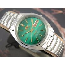 Relógio Orient Automático Preto Calendário Duplo Aço 0401sf9