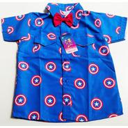 Camisa Temática Capitão American Luxo