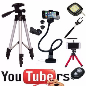 Kit Youtuber Advanced Ii Tripé 1,20 Tripe Flexivel Celular