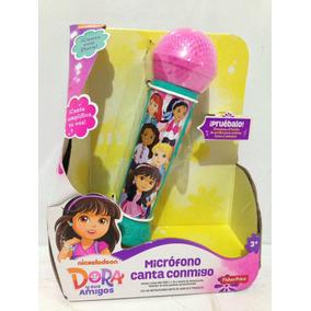 Micrófono Canta Conmigo Dora La Exploradora! Nuevo 10-dgw52
