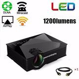 Mini Proyector Led Portatil Wi Fi Uc46 1200 Lummens Hdmi Vga