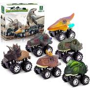 Set De 6 Autos Dinosaurios, Friccion Bestoys