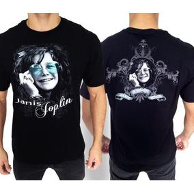 Camiseta Consulado Do Rock E630 Janis Joplin Camisa Banda