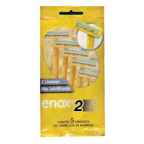 Aparelho De Barbear Enox 2 Lâminas Com 5 Unidades