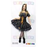 Vestido De Bruxa Roupa Halloween Plus Size - Grandes Medidas
