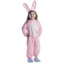 Disfraz Para Niña Traje Rosado Niños Felpa Conejo De Energi