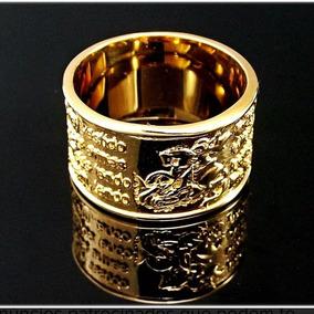 Anel Masculino Oraçao Sao Jorge Ouro 18k - Anéis com o melhor preço ... 5b8adceaa6