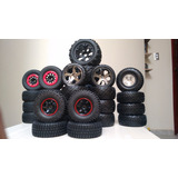 4 Pneus C/ Rodas On/off Road Traxxas Slash 4x4 4x2 2wd 12 Mm