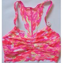 Victoria Secret Bralette De Encaje - Estilo 1txy Naranja